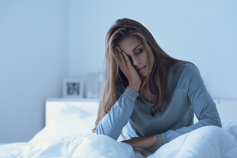 Woman tired from lack of sleep